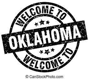 welcome to Oklahoma black stamp