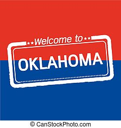 Welcome to OKLAHOMA of US State illustration design