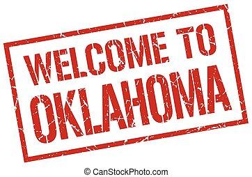 welcome to Oklahoma stamp