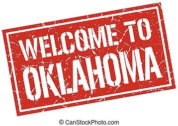 welcome to Oklahoma stamp