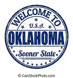 Welcome to Oklahoma grunge rubber stamp on white background, vector illustration