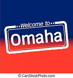 Welcome to Omaha City illustration design