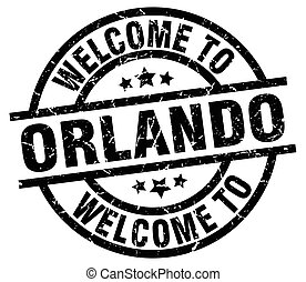 welcome to Orlando black stamp