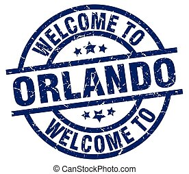 welcome to Orlando blue stamp