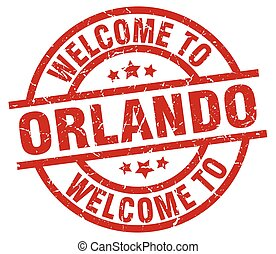 welcome to Orlando red stamp