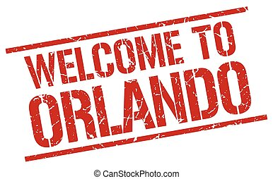 welcome to Orlando stamp