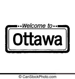 Welcome to Ottawa city illustration design