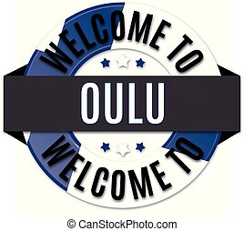 welcome to oulu finland flag icon