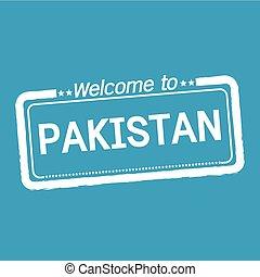 Welcome to PAKISTAN illustration design
