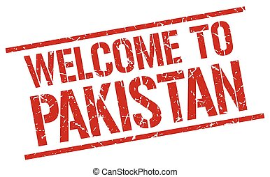 welcome to Pakistan stamp