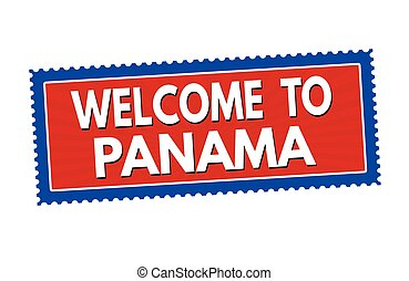 Welcome to Panama sticker or stamp