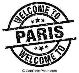 welcome to Paris black stamp