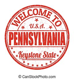 Welcome to Pennsylvania grunge rubber stamp on white background, vector illustration