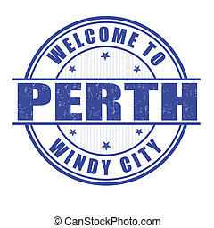 Welcome to Perth stamp - Welcome to Perth, Windy city grunge...