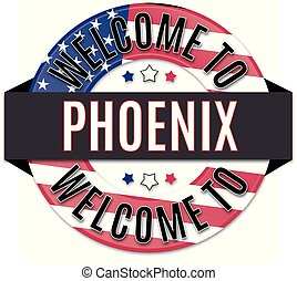 welcome to PHOENIX usa flag icon
