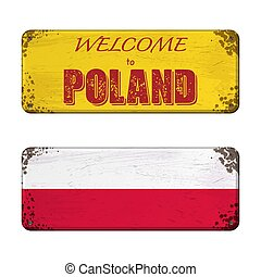 Welcome to Poland nameplate