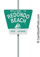Welcome to Redondo Beach road sign