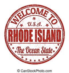 Welcome to Rhode Island stamp - Welcome to Rhode Island...