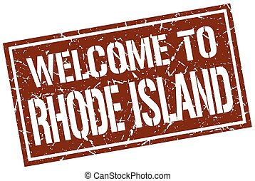 welcome to Rhode Island stamp