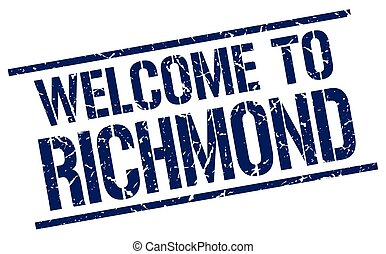 welcome to Richmond stamp