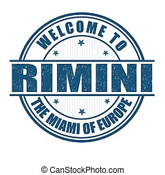Welcome to Rimini stamp