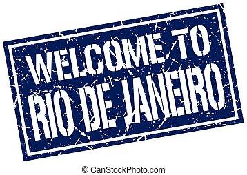 welcome to Rio De Janeiro stamp