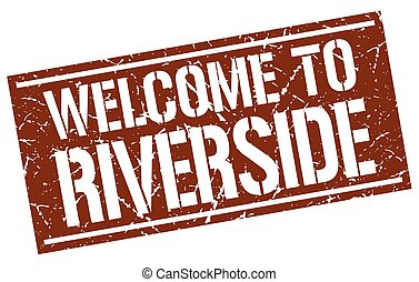welcome to Riverside stamp