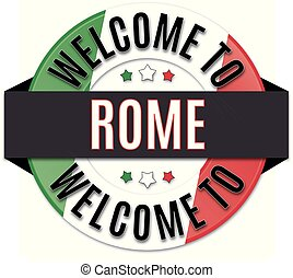 welcome to rome italy flag icon