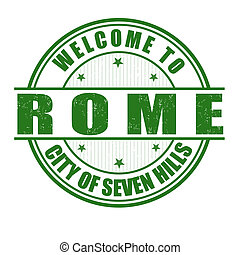 Welcome to Rome stamp