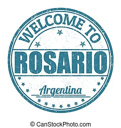 Welcome to Rosario stamp