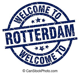 welcome to Rotterdam blue stamp