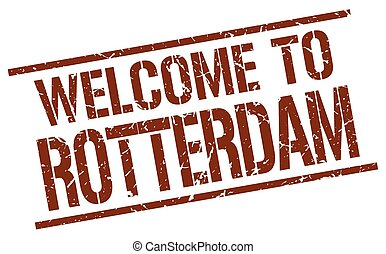 welcome to Rotterdam stamp