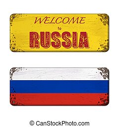 Welcome to Russia nameplate