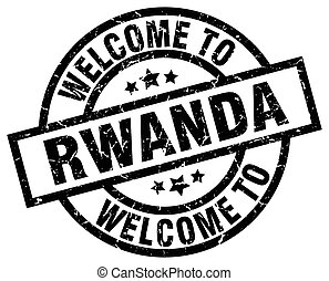 welcome to Rwanda black stamp