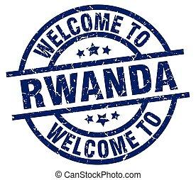 welcome to Rwanda blue stamp