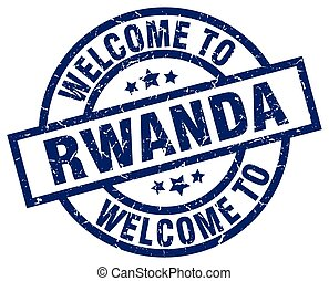 welcome to Rwanda blue stamp