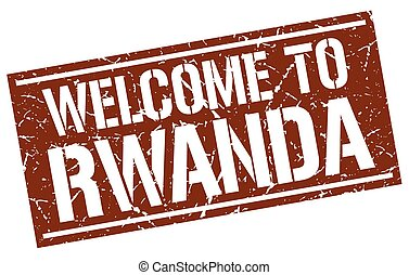 welcome to Rwanda stamp