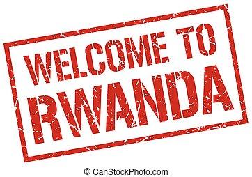 welcome to Rwanda stamp