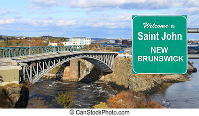 Welcome to Saint John, NB sign - Welcome to Saint John, New...