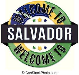 welcome to SALVADOR brazil flag icon
