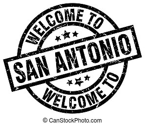 welcome to San Antonio black stamp