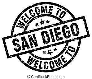 welcome to San Diego black stamp