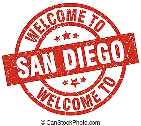 welcome to San Diego red stamp