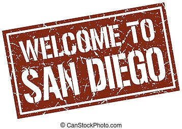 welcome to San Diego stamp