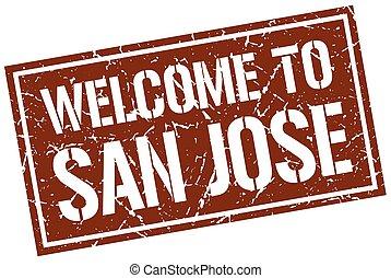 welcome to San Jose stamp