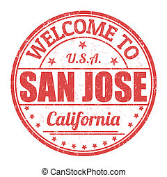 Welcome to San Jose stamp