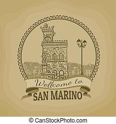 Welcome to San Marino retro poster
