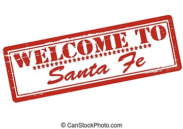 Rubber stamps with text welcome to Santa Fe inside, vector illustration