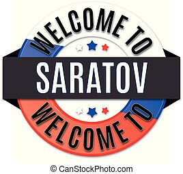 welcome to saratov russia flag icon