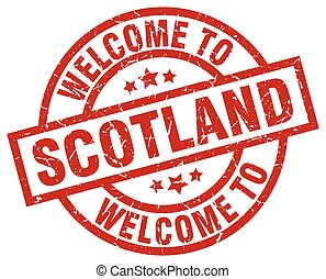 welcome to Scotland red stamp